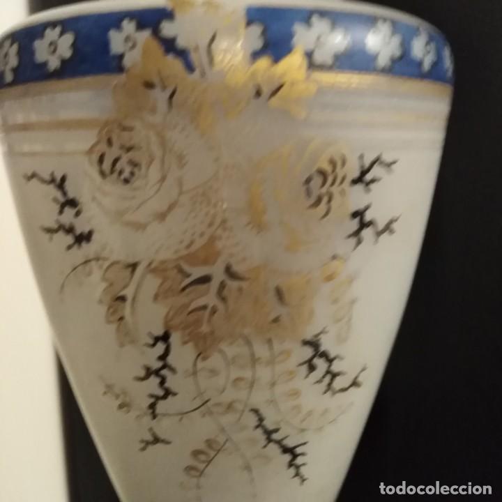 Antigüedades: Antiguo Jarrón de opalina del siglo xix - Foto 5 - 192604401