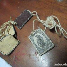 Antigüedades: LOTE DOS RELICARIOS ANTIGUOS VIRGEN DEL CARMEN Y OTRA. Lote 192625938