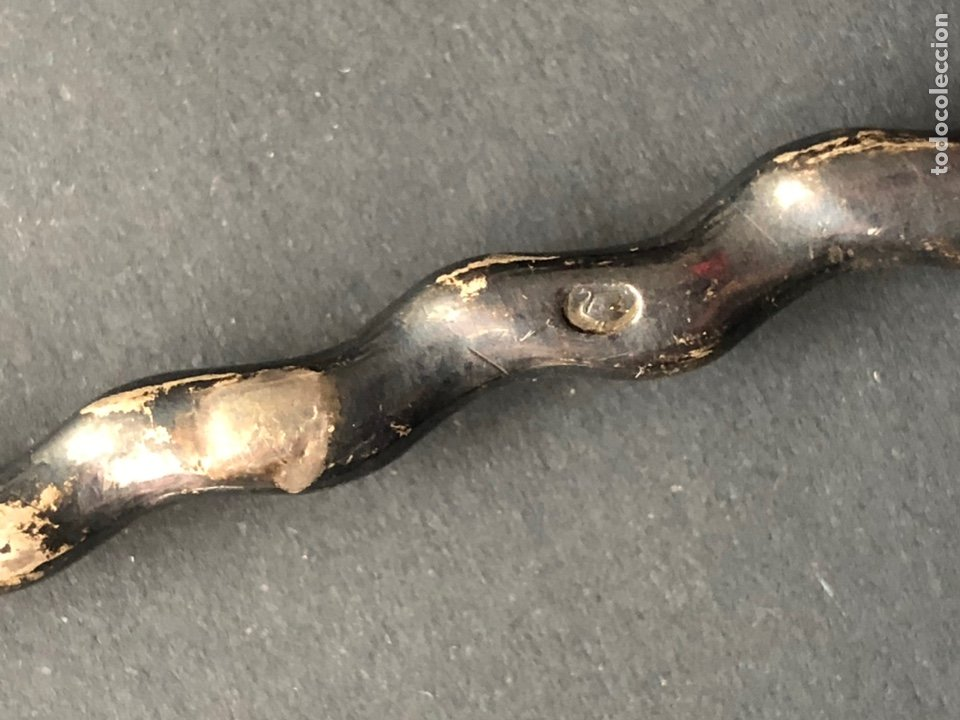 Antigüedades: Preciosa cuchara litúrgica de plata del siglo XVII con contrastes sellos de autor ¡Ver fotos! - Foto 5 - 192627192