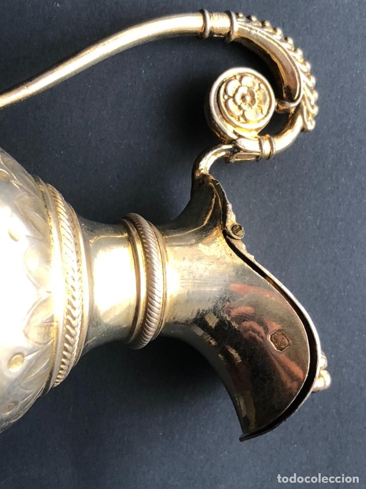 Antigüedades: Preciosas vinajeras de plata sobredorada del siglo XIX con sello del maestro orfebre Alexis Renaud - Foto 6 - 192632083