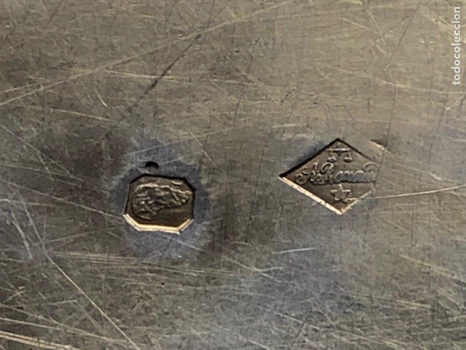Antigüedades: Preciosas vinajeras de plata sobredorada del siglo XIX con sello del maestro orfebre Alexis Renaud - Foto 16 - 192632083