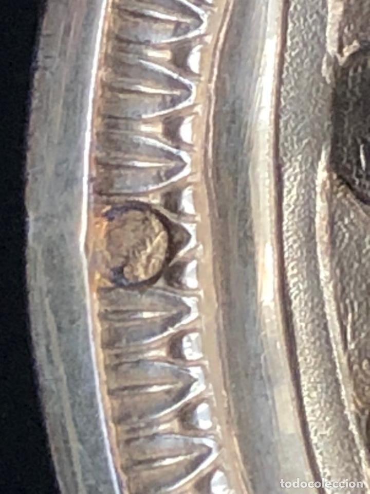 Antigüedades: Preciosas vinajeras de plata sobredorada del siglo XIX con sello del maestro orfebre Alexis Renaud - Foto 17 - 192632083