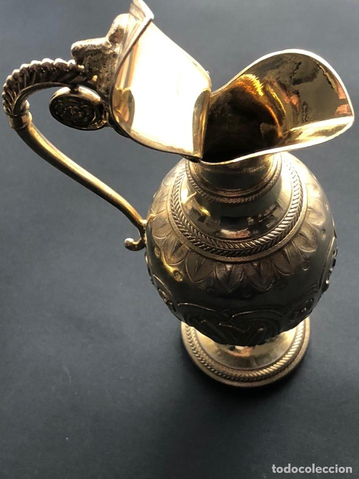 Antigüedades: Preciosas vinajeras de plata sobredorada del siglo XIX con sello del maestro orfebre Alexis Renaud - Foto 19 - 192632083