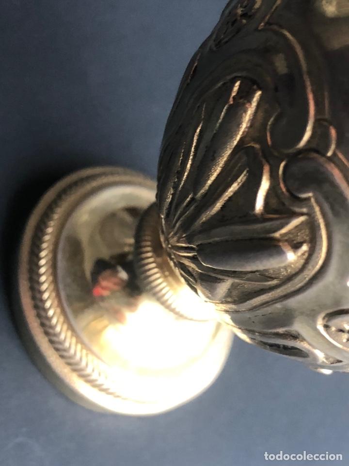 Antigüedades: Preciosas vinajeras de plata sobredorada del siglo XIX con sello del maestro orfebre Alexis Renaud - Foto 24 - 192632083