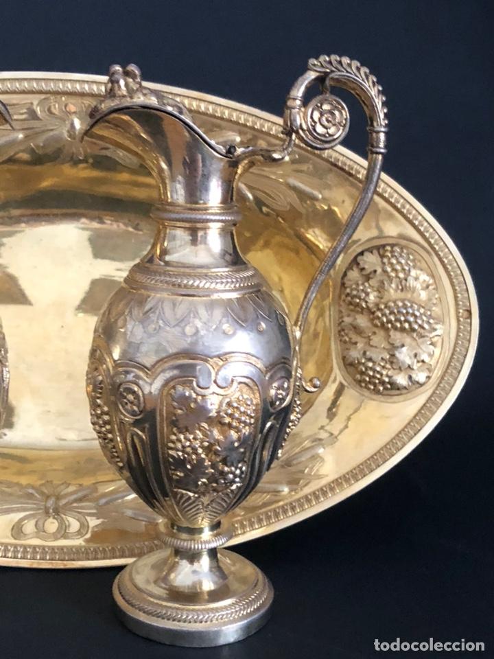 Antigüedades: Preciosas vinajeras de plata sobredorada del siglo XIX con sello del maestro orfebre Alexis Renaud - Foto 30 - 192632083