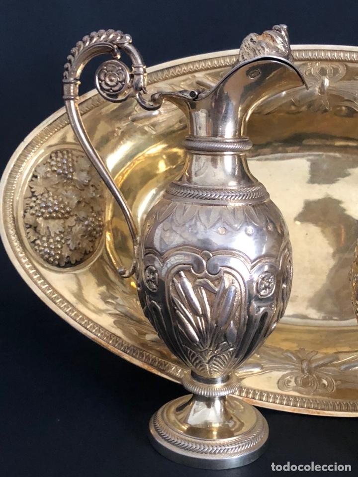 Antigüedades: Preciosas vinajeras de plata sobredorada del siglo XIX con sello del maestro orfebre Alexis Renaud - Foto 34 - 192632083