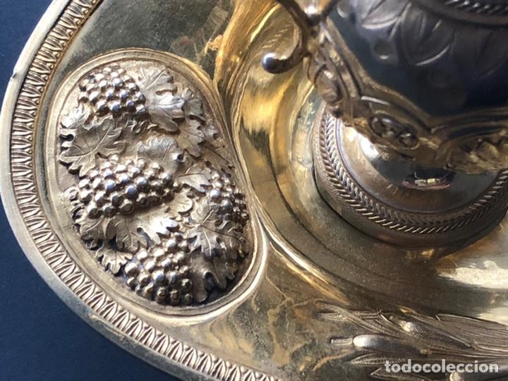 Antigüedades: Preciosas vinajeras de plata sobredorada del siglo XIX con sello del maestro orfebre Alexis Renaud - Foto 36 - 192632083