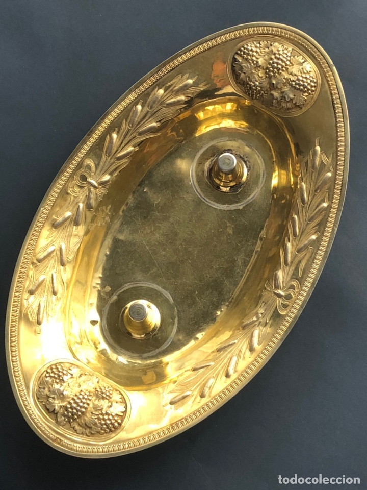 Antigüedades: Preciosas vinajeras de plata sobredorada del siglo XIX con sello del maestro orfebre Alexis Renaud - Foto 43 - 192632083