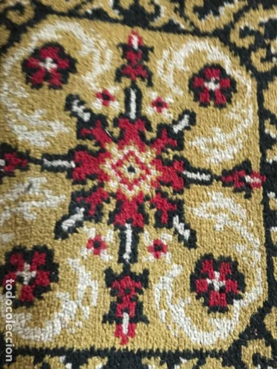 Antigüedades: Antigua alfombra para pasillo lana motivos geometricos persa rojo 2,15x 69,5 cmaños 50 - Foto 4 - 192647721