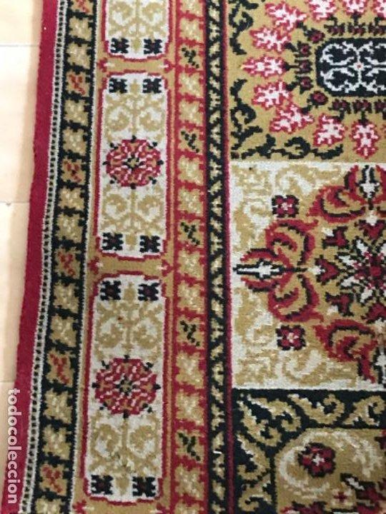 Antigüedades: Antigua alfombra para pasillo lana motivos geometricos persa rojo 2,15x 69,5 cmaños 50 - Foto 7 - 192647721