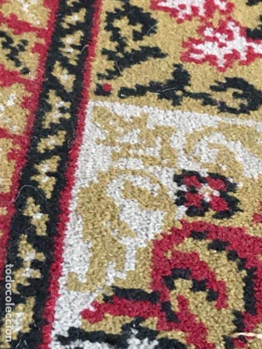 Antigüedades: Antigua alfombra para pasillo lana motivos geometricos persa rojo 2,15x 69,5 cmaños 50 - Foto 12 - 192647721
