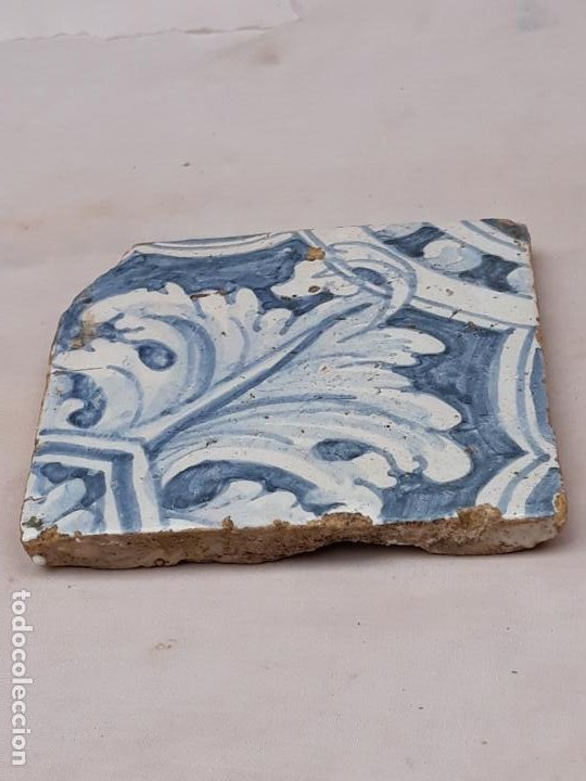 Antigüedades: AZULEJO ANTIGUO DE TALAVERA / TOLEDO - RENACIMIENTO - SIGLO XVI. / 3 - Foto 2 - 192660446
