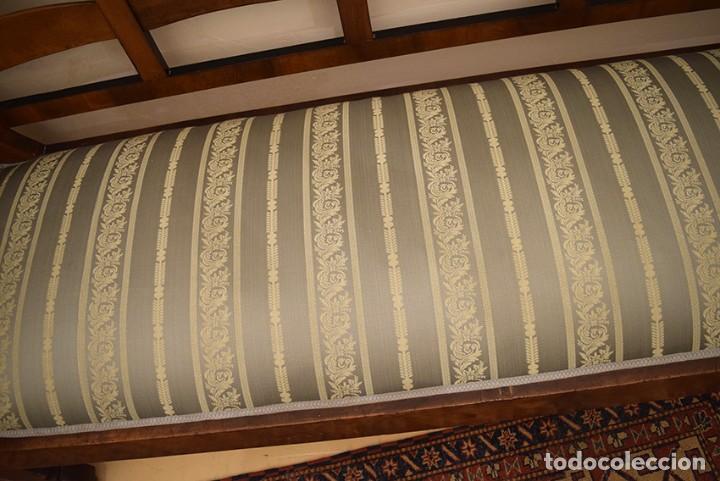 Antigüedades: Sofá estilo imperio, siglo XIX, raíz de nogal, muy buen estado - Foto 8 - 192676382