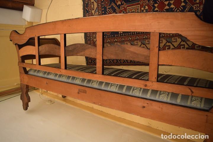 Antigüedades: Sofá estilo imperio, siglo XIX, raíz de nogal, muy buen estado - Foto 11 - 192676382