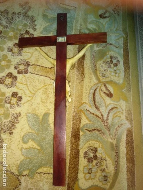 Antigüedades: Crucifijo Antiguo - Foto 2 - 213068108