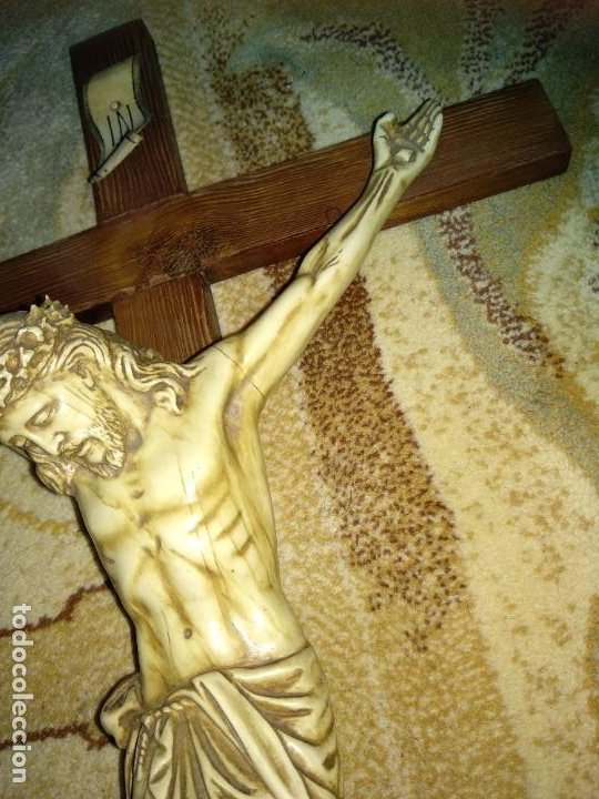 Antigüedades: Crucifijo Antiguo - Foto 4 - 213068108