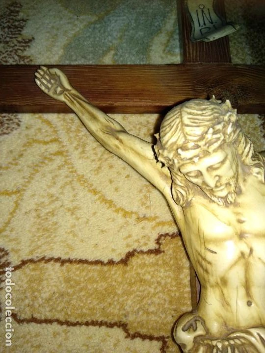 Antigüedades: Crucifijo Antiguo - Foto 5 - 213068108