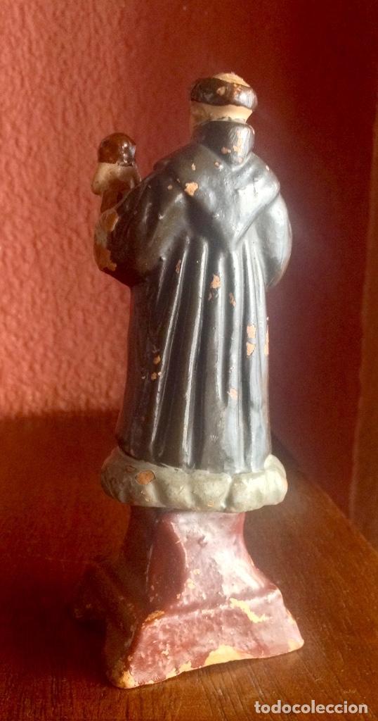 Antigüedades: ANTIGUO SAN ANTONIO DE BARRO DE 14 CM. DE ALTURA - Foto 2 - 192702090