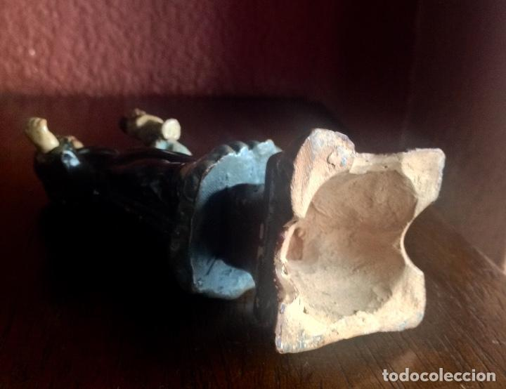 Antigüedades: ANTIGUO SAN ANTONIO DE BARRO DE 14 CM. DE ALTURA - Foto 5 - 192702090