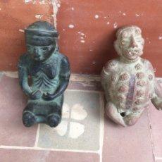 Oggetti Antichi: LOTE DE 2 FIGURAS DE TERRACOTA. Lote 192713680