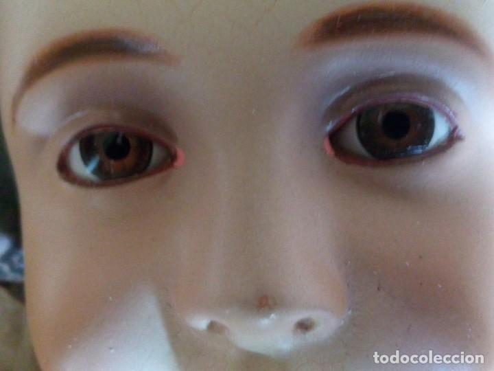 Antigüedades: ~~~~ ENORME Y PRECIOSO NIÑO JESUS DE OLOT, ESTUCO POLICROMADO, OJOS DE CRISTAL, MIDE 45 CM. ~~~~ - Foto 10 - 192744021