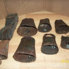Antigüedades: LOTE DE 7 CENCERROS. Lote 192747532