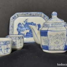 Antigüedades: SERVICIO COMPLETO DE TÉ EN PORCELANA CHINA, PRINCIPIOS DEL SIGLO XX.. Lote 192749531