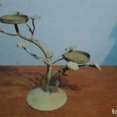 Antigüedades: CANDELABRO ART DECO ESTAÑO MACIZO. Lote 192749798