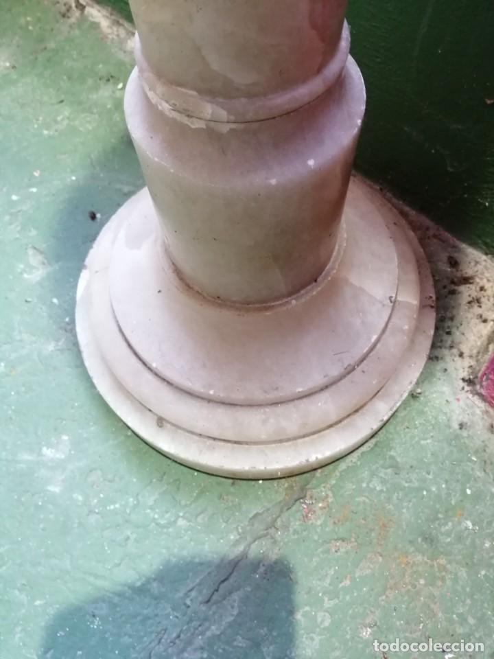 Antigüedades: Peana de alabastro - Foto 3 - 192753428
