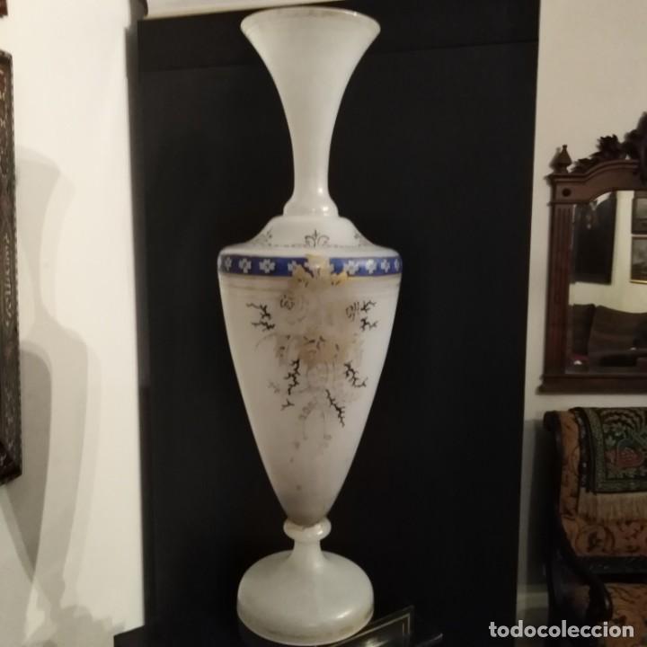 Antigüedades: Antiguo Jarrón de opalina del siglo xix - Foto 8 - 192604401