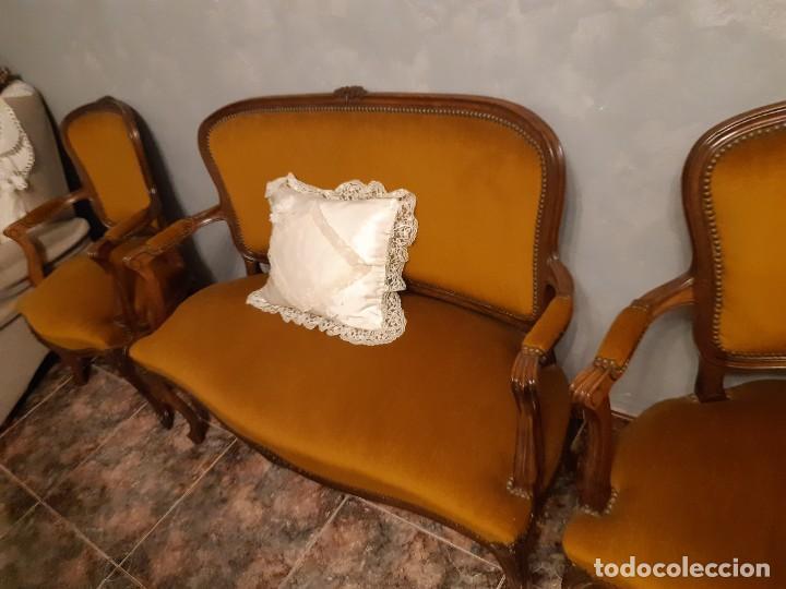 Antigüedades: Sofas estilo luis xv, recien tapizados - Foto 2 - 191122657