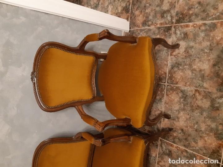 Antigüedades: Sofas estilo luis xv, recien tapizados - Foto 3 - 191122657