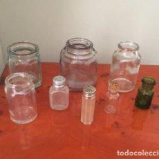 Antigüedades: 8 FRASCOS ANTIGUOS DE MEDICINAS, TODOS DIFERENTES.. Lote 192776068