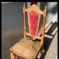 Antigüedades: SILLA ALFONSINA SIGLO XIX , AÑO PRINCIPIO DEL 1800 TAMAÑO 1,10 CM ALTO. Lote 192780168