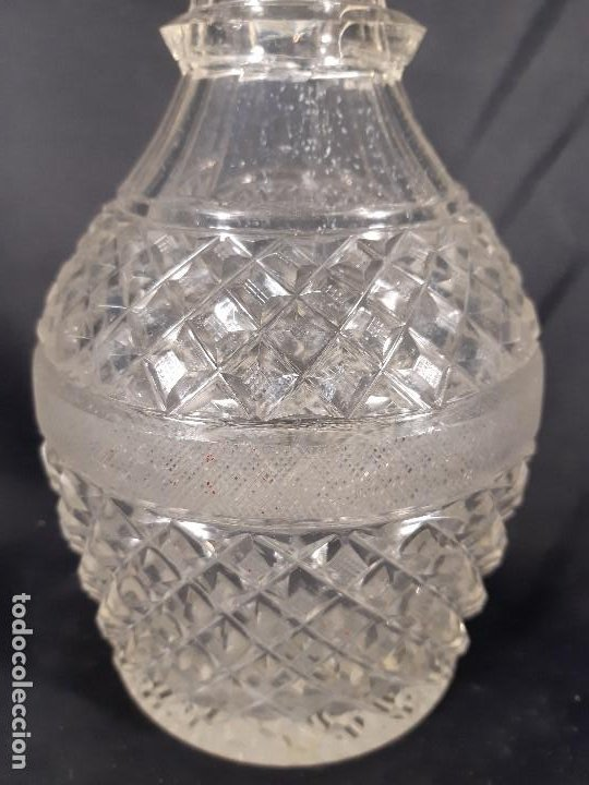 Antigüedades: Botella. Cristal tallado. Baccarat. Siglo XIX-XX. - Foto 7 - 212624015