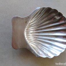 Antigüedades: BANDEJITA VIEIRA CONCHA DE PLATA DE LEY 925 MEXICO. Lote 192799520