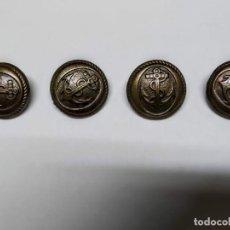 Antigüedades: 4 BOTONES DE METAL CON ANCLA. Lote 192832017