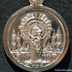 Antigüedades: ANTIGUA MEDALLA DE LA VIRGEN DEL PILAR EN PLATA DE 1º DE LEY925 CONTRASTADA. Lote 56721646