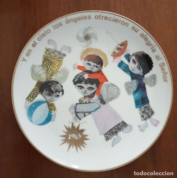 PLATO NAVIDAD CONMEMORATIVO SANTA CLARA DEDICADO MOISES ALVAREZ E HIJOS AÑO 1965 (Antigüedades - Porcelanas y Cerámicas - Santa Clara)