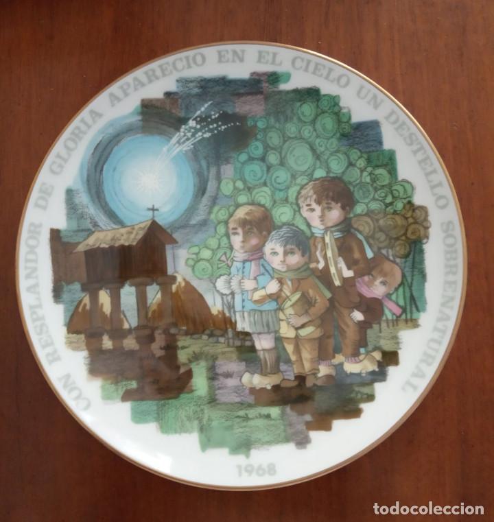 PLATO NAVIDAD CONMEMORATIVO SANTA CLARA DEDICADO MOISES ALVAREZ E HIJOS AÑO 1968 (Antigüedades - Porcelanas y Cerámicas - Santa Clara)