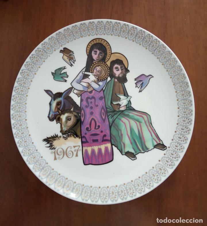 PLATO NAVIDAD CONMEMORATIVO SANTA CLARA DEDICADO MOISES ALVAREZ E HIJOS AÑO 1967 (Antigüedades - Porcelanas y Cerámicas - Santa Clara)