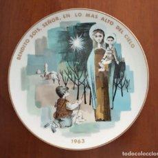 Antigüedades: PLATO NAVIDAD CONMEMORATIVO SANTA CLARA FIRMADO POR MOISÉS ÄLVAREZ 1963. Lote 192897928