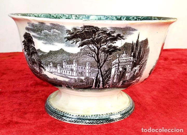 ENSALADERA. LOZA ESMALTADA. CARTAGENA (?). ESPAÑA. SIGLO XIX (Antigüedades - Porcelanas y Cerámicas - Cartagena)