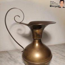 Antigüedades: PRECIOSO JARRÓN DE LATÓN (33 CM ALTO - 18 CM DIÁMETRO). Lote 192927025