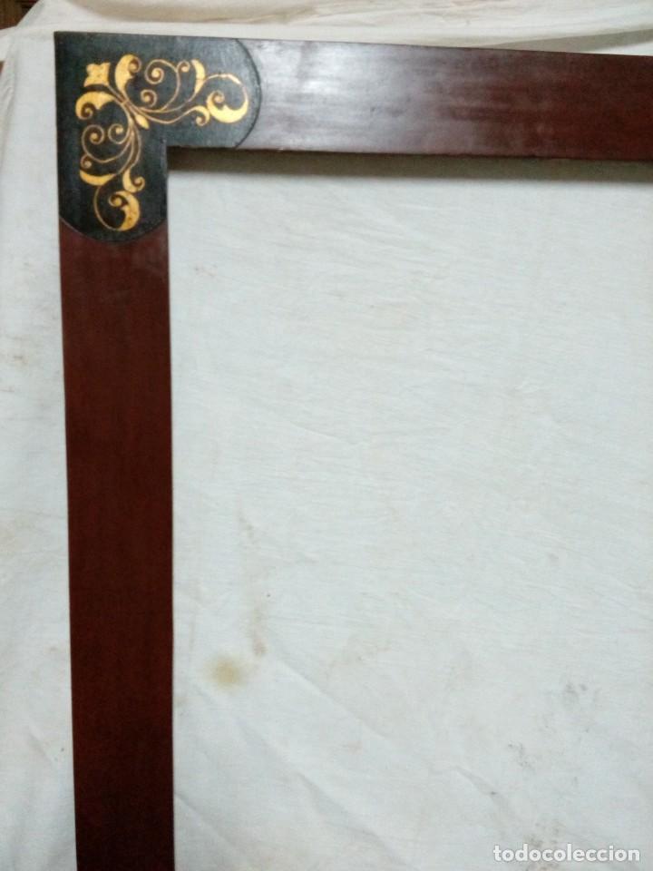 Antigüedades: Marco.Estuco con decoración en dorado. - Foto 2 - 192929786