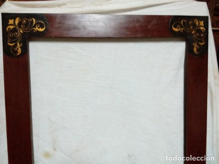Antigüedades: Marco.Estuco con decoración en dorado. - Foto 3 - 192929786