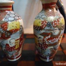 Antigüedades: PAREJA DE PEQUEÑOS TIBORES. PORCELANA JAPONESA SATSUMA.. Lote 192940767