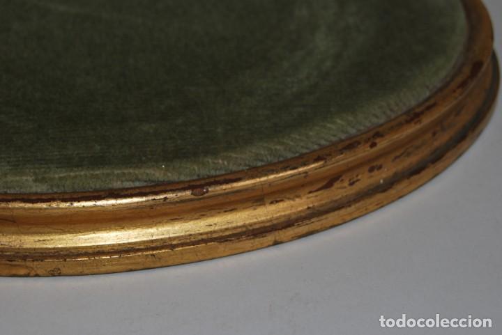 Antigüedades: ANTIGUA PEANA DE MADERA - TERCIOPELO VERDE - PEDESTAL - BASE - PIE - Foto 3 - 192953778