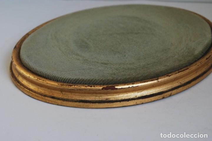 Antigüedades: ANTIGUA PEANA DE MADERA - TERCIOPELO VERDE - PEDESTAL - BASE - PIE - Foto 5 - 192953778