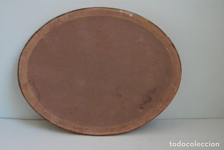 Antigüedades: ANTIGUA PEANA DE MADERA - TERCIOPELO VERDE - PEDESTAL - BASE - PIE - Foto 8 - 192953778